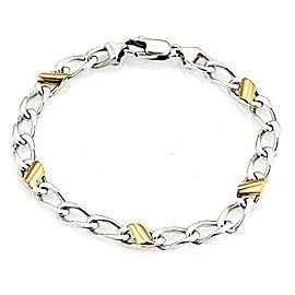 Tiffany & Co. 18K Yellow Gold & 925 Sterling Silver Cuban Link Bracelet