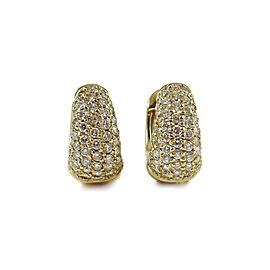 Roberto Coin Huggie 18K Yellow Gold 1.50tcw Diamond, Ruby Earrings