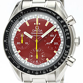 Polished OMEGA Speedmaster Michael Schumacher Red Dial Watchh #HK-378