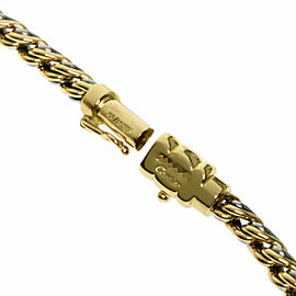 CARTIER Diamond 18k Yellow Gold Stainless Steel Nymphia Necklace