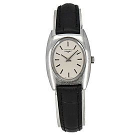 Vintage LONGINES Stainless Steel/Leather Hand-winding Women's Watch