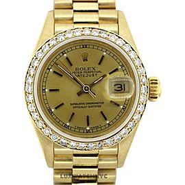 Rolex Presidential Datejust 18K Yellow Gold & Diamond 26mm Watch