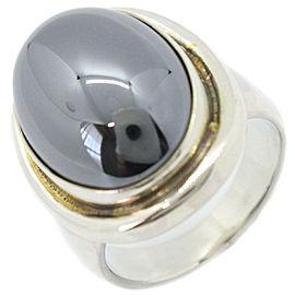 Georg Jensen Silver/Hematite Ring