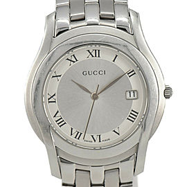 Gucci 5500M Silver Dial Stainless Steel Quartz Men's Watch