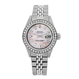 Rolex Lady Datejust 6917 26mm Pink Mother of Pearl Womens Satinless Steel Watch