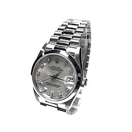 Rolex Datejust Platinum & Diamond 30mm Watch