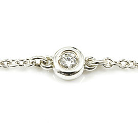 Tiffany & Co. Sterling Silver, Diamond By The Yard Chain Bracelet CHAT-203