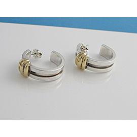 Tiffany & Co Silver 18K Yellow Gold RARE Atlas Hoop Earring