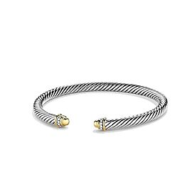 David Yurman Cable Classics Sterling Silver & 18K Yellow Gold with Diamonds Bracelet