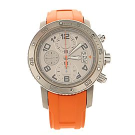 Hermes Clipper Diver Chronograph Automatic Watch Stainless Steel and Titanium with Rubber 44