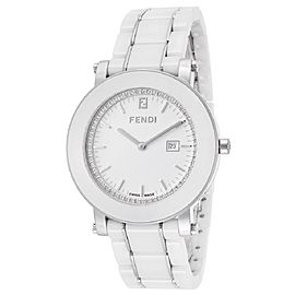 Fendi F642140D White Ceramic Diamond 38mm Womens Watch