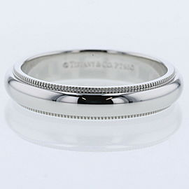 "TIFFANY & Co PlatinumPT950 Milgrain width about 0.2 "" Ring TBRK-91"