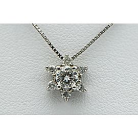14K White Gold Diamond Snowflake Pendant