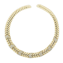 Bvlgari 18K Yellow Gold Spiga Diamond Necklace