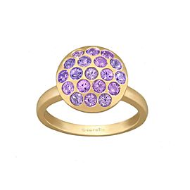Purple Sapphire Pave Sizzle Ring