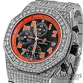 Audemars Piguet Royal Oak Offshore Chronograph Stainless Steel Custom Full Diamond Watch 26170ST.OO.D101CR.01