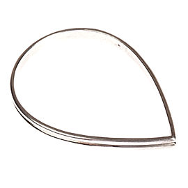 Anna Sheffield Egg Shaped Sterling Silver Bangle