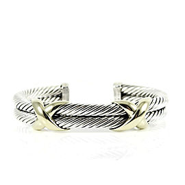 David Yurman Sterling Silver 14K Yellow Gold XX Bangle Bracelet