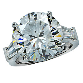 Platinum with 10.1 ct Diamond Engagement Ring Size 5.75