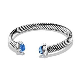 David Yurman Cable Classics Sterling Silver with Topaz and 0.18ct Diamond Bracelet
