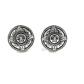 Kieselstein-Cord 925 Sterling Silver Sun Disc Clip-On Earrings