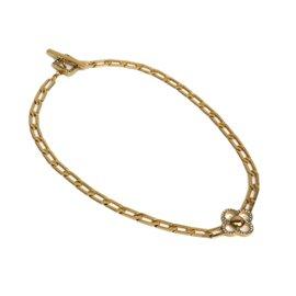 Louis Vuitton Gold Tone Metal Necklace