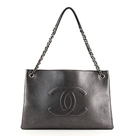 Chanel CC Shopping Tote Iridescent Calfskin East West