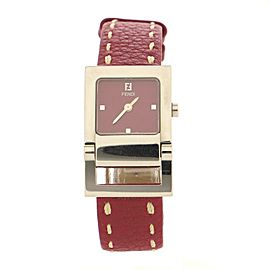 Fendi 5200L Quartz Watch Stainless Steel and Leather 23