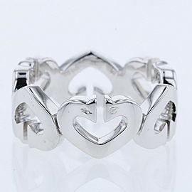 CARTIER 18KWhiteGold / diamond C heart B40415 Ring