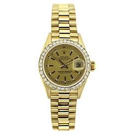Rolex Datejust 18K Yellow Gold & 1.4ct Diamond 26mm Womens Watch
