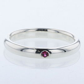 TIFFANY & Co. Silver925 / Ruby Stacking band Ring