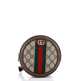 Gucci Ophidia Round Backpack GG Coated Canvas Mini