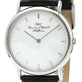 IWC Portofino Steel Leather Quartz Mens Watch IW3341