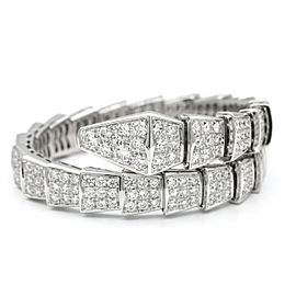 Bulgari Serpenti 18K White Gold with 6.80ct Diamonds Bracelet