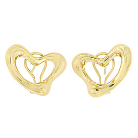 Tiffany & Co. 18k Yellow Gold Elsa Peretti Open Heart Earrings