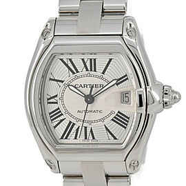 CARTIER Roadster LM 2510/W62000V3 Silver Dial Automatic Men's Watch #HK-313