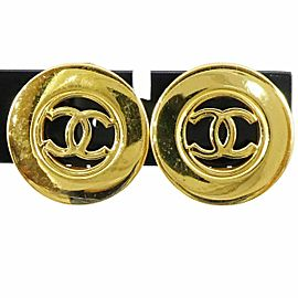 CHANEL Gold-tone Coco Mark CC Logo Earrings CHAT-49