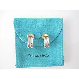 Tiffany & Co Silver 18K Yellow Gold RARE Atlas Clip on Earring