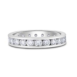 Platinum 2.20ct. Diamond Channel Set Eternity Band Size 8.5