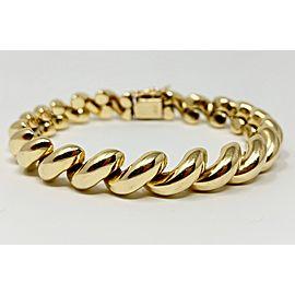 14k Yellow Gold San Marco Macaroni Link Bracelet