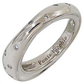 Ponte Vecchio 18K White Gold Diamonds Design Ring