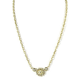 "Doris Panos 18K Yellow Gold .45tcw 17"" Doily Diamond Pendant Necklace"