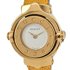 GUCCI 6600 Bezel rotate White Dial Quartz Women's Bangle Watch