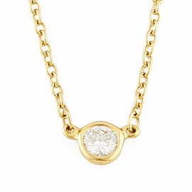 TIFFANY&Co. 18K yellow Gold Diamond Necklace CHAT-342