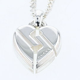GUCCI Necklace Knot heart 925 Silver Necklace TBRK-259