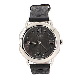 Fendi Selleria Quartz Watch Stainless Steel and Leather 35
