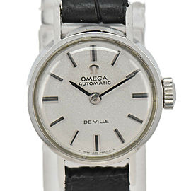OMEGA de vill Silver Dial SS/Laether Cal.661 Automatic Ladies Watch