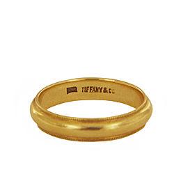Tiffany&Co. Milgrain Wedding Band Gold Ring