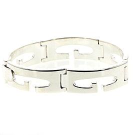 GUCCI G logo wide 925 Silver bracelet TBRK-279