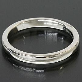 Tiffany & Co. Platinum Simple Wedding Band Mens Ring TNN-1672
